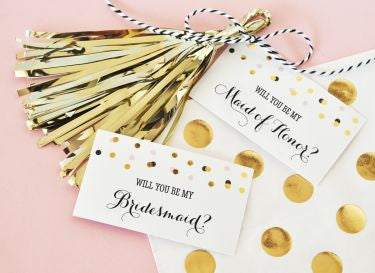 Will You Be My....? Tags & Tassels (set of 6) - Marry Me Wedding Accessories & Gifts - 1