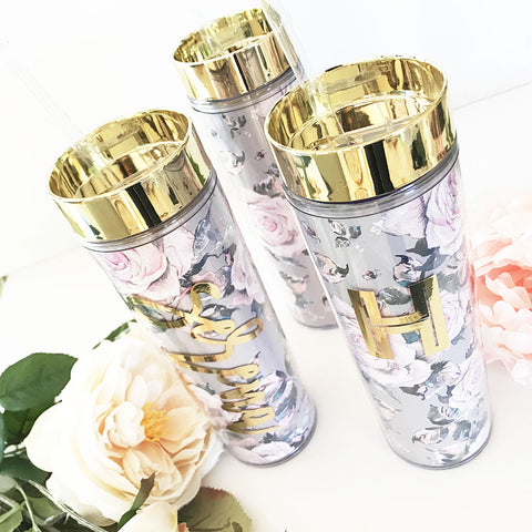 Personalized Rose Garden Tumbler - Marry Me Wedding Accessories & Gifts