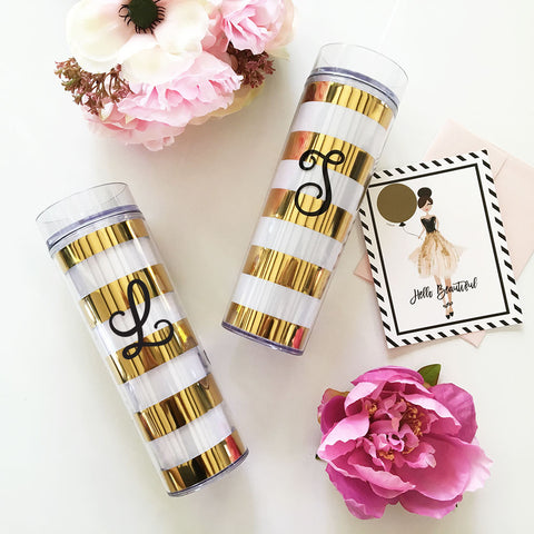 Bold Stripes Tumbler - Marry Me Wedding Accessories & Gifts