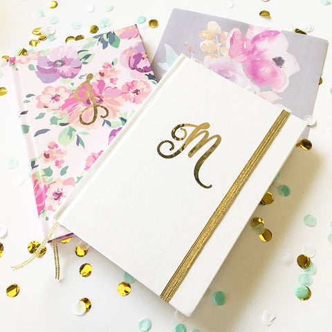Script Monogram Journal