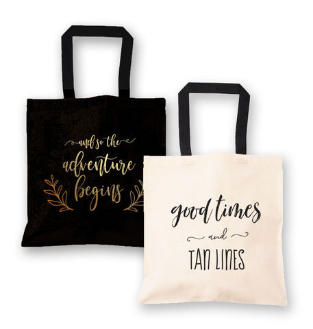 Fun Canvas Tote Bags - Marry Me Wedding Accessories & Gifts