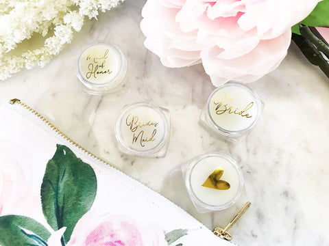 Bridal Party Lip Butter (set of 12) - Marry Me Wedding Accessories & Gifts
