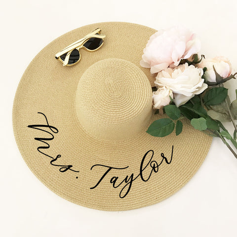 Personalized Sun Hat - Marry Me Wedding Accessories & Gifts