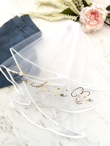 Bride To Be Veil - Marry Me Wedding Accessories & Gifts