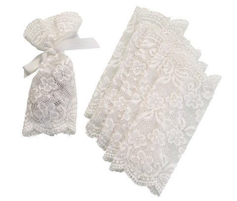 Set of 6 Lace Favor Bags Ivory - Marry Me Wedding Accessories & Gifts - 1