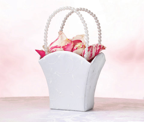 Elegant Wedding Basket - White or Ivory - Marry Me Wedding Accessories & Gifts