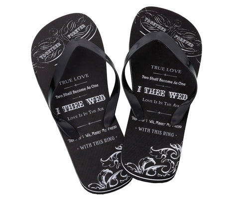 Men's True Love Flip Flops - Marry Me Wedding Accessories & Gifts