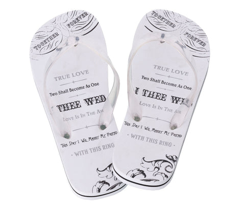 Women's True Love Flip Flops - Marry Me Wedding Accessories & Gifts