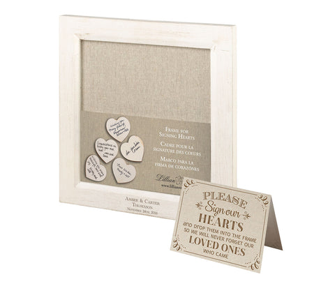 Personalized Small Guest Signing Hearts Frame - Marry Me Wedding Accessories & Gifts