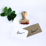"""Love"" Rubber Stamp - Marry Me Wedding Accessories & Gifts"