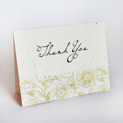 Seeded Lotka Thank You Card Set of 12 - Marry Me Wedding Accessories & Gifts