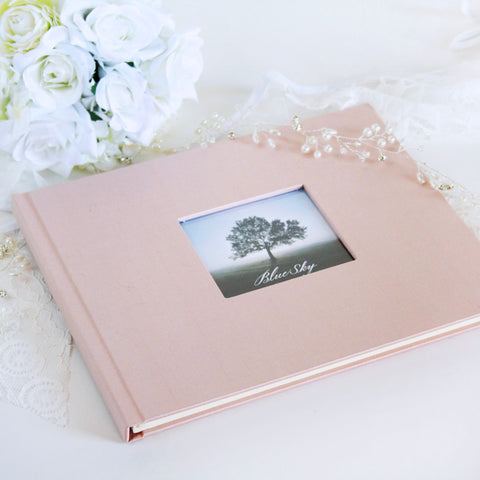 Custom Silk Dupioni Wedding Guest Book or Photo Album
