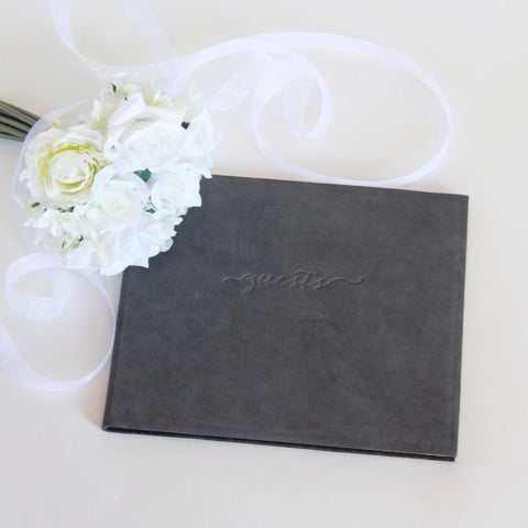 Leather Wedding Guest Book or Photo Album