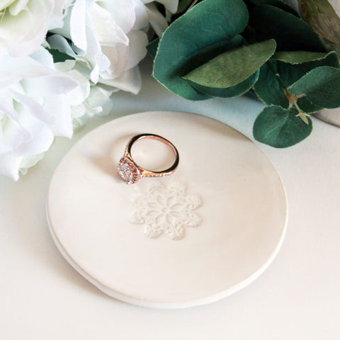 Floral Ring Dish - Marry Me Wedding Accessories & Gifts
