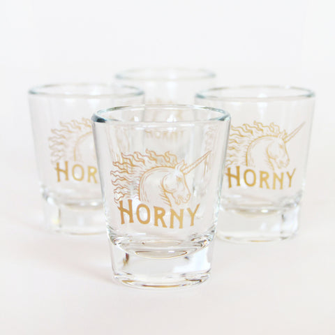 Horny Unicorn Shot Glasses - Marry Me Wedding Accessories & Gifts
