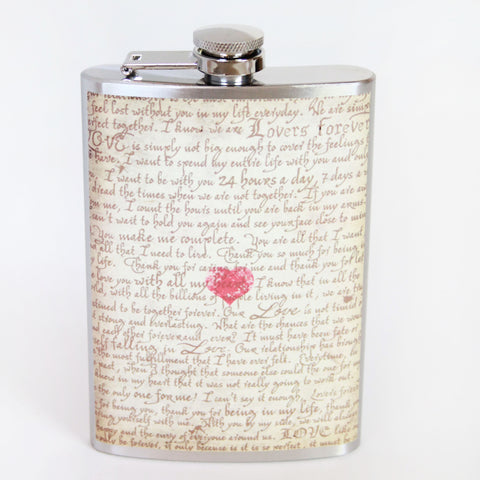 Love Letter Flask - Marry Me Wedding Accessories & Gifts