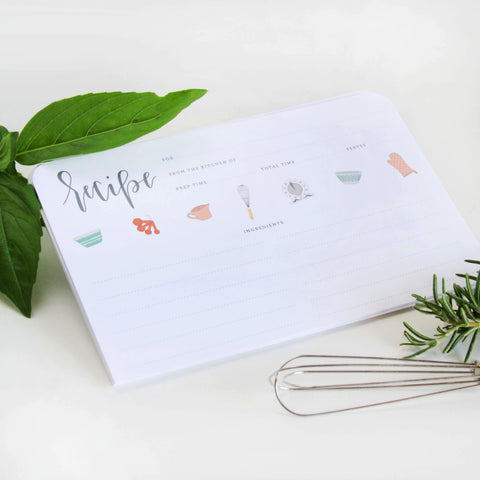Bakers Notes Recipe Card - Marry Me Wedding Accessories & Gifts
