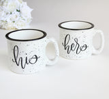 Couples Ceramic Coffee Mug Set - Marry Me Wedding Accessories & Gifts