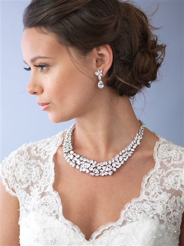 Ravishing Cubic Zirconia Wedding Necklace Set - Marry Me Wedding Accessories & Gifts