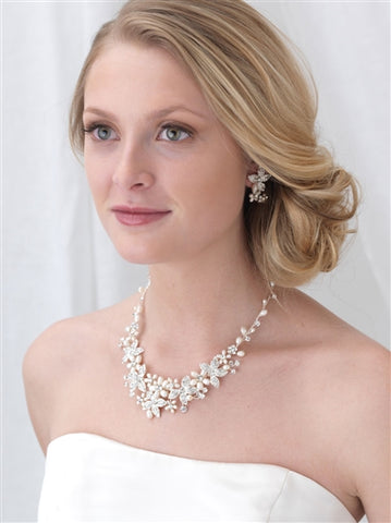 Floral Garden Pearl Jewelry Set - Marry Me Wedding Accessories & Gifts