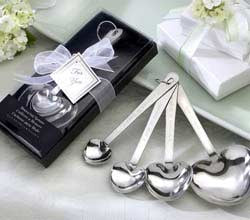 """Love Beyond Measure""  Heart-Shaped Measuring Spoons in Gift Box - Marry Me Wedding Accessories & Gifts"