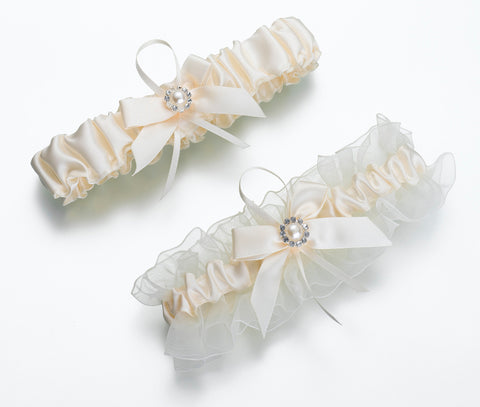 Set of 2 Ivory Pearl Garters - Marry Me Wedding Accessories & Gifts