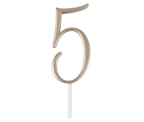 Gold Monogram Number Cake Topper - Marry Me Wedding Accessories & Gifts