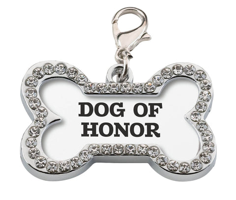 "Wedding Dog Collar Charm ""Dog of Honor"""
