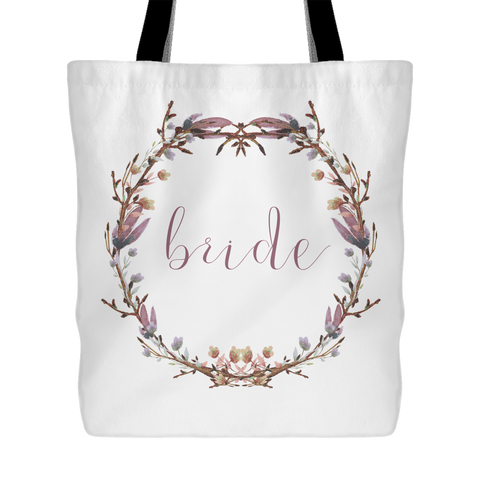 Blushing Wreath Tote - Bride - Marry Me Wedding Accessories & Gifts