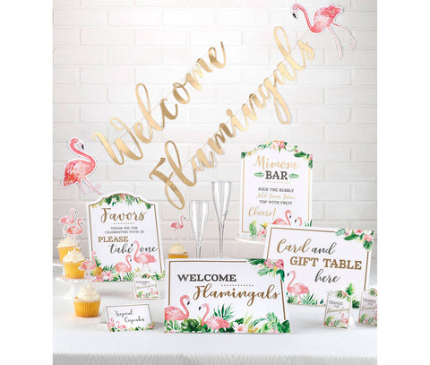 Flamingo Theme Bridal Shower Decor Set - Marry Me Wedding Accessories & Gifts