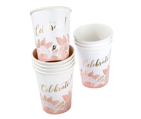 Set of 16 Bridal Shower Cups