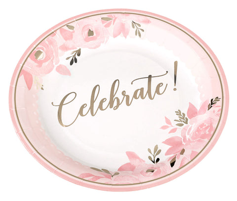 Set of 16 Bridal Shower Plates