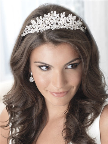 Floral Cascade Swarovski Crown - Marry Me Wedding Accessories & Gifts
