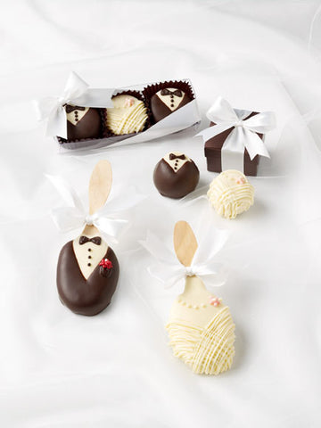 Bride and Groom Chocolate Treat Favors - Marry Me Wedding Accessories & Gifts