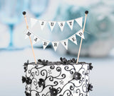 Just Married Cake Bunting - Marry Me Wedding Accessories & Gifts