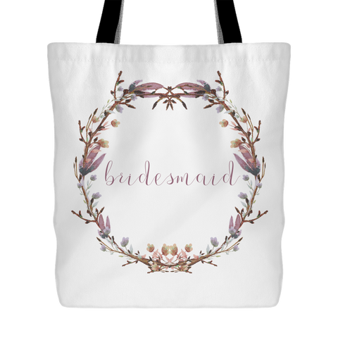 Blushing Wreath Tote - Bridesmaid