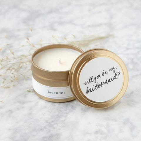 Be My Bridesmaid Travel Candle - Marry Me Wedding Accessories & Gifts