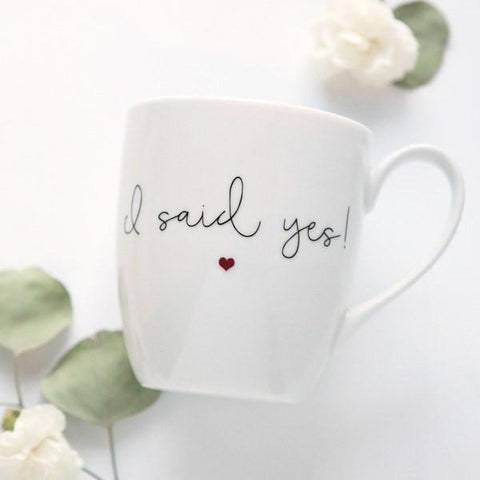 """I Said Yes"" Engagement Mug - Marry Me Wedding Accessories & Gifts"
