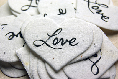 Seeded Paper Hearts -Small