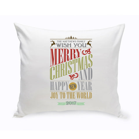 Holiday Throw Pillow - Marry Me Wedding Accessories & Gifts