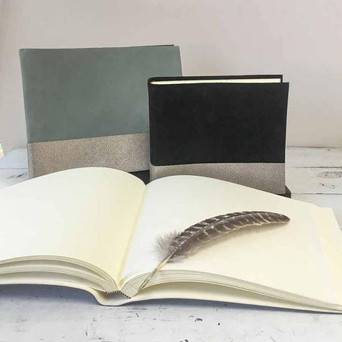 Metallic Leather & Suede Book - Boho Chic Style Album - Marry Me Wedding Accessories & Gifts