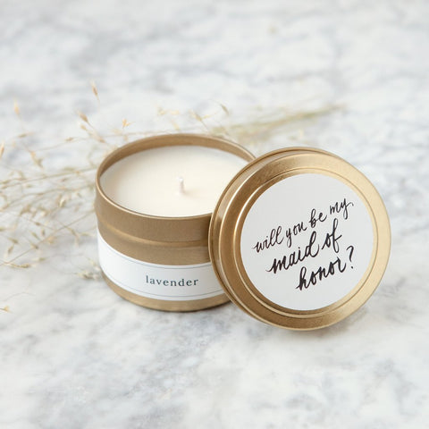 Be My Maid of Honor Travel Candle