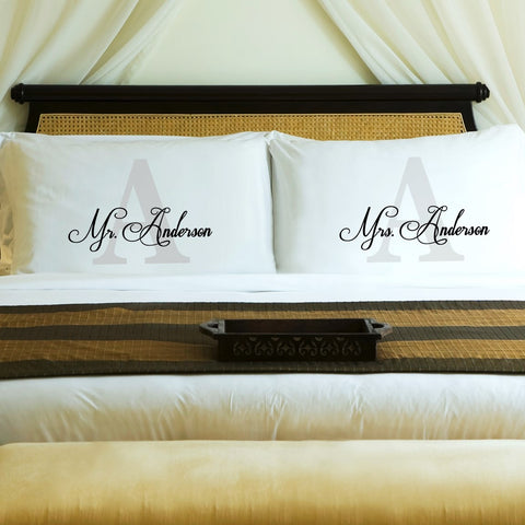 NEW Couples Initial Pillow Case Set - Marry Me Wedding Accessories & Gifts
