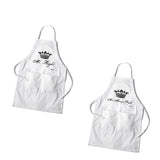 Personalized Couples White Apron Set - Marry Me Wedding Accessories & Gifts