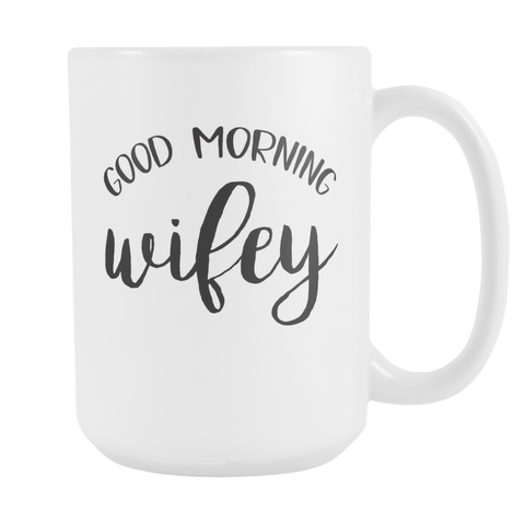 Good Morning Wifey - Good Morning Hubby Mugs - Marry Me Wedding Accessories & Gifts