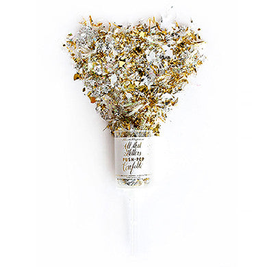 Push-pop Confetti Metallic Gold And Silver - Marry Me Wedding Accessories & Gifts - 1