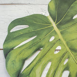 Tropical Monstera Leaf Die-Cut Paper Placemat Sheets