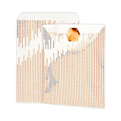 Metallic Copper Dots Paper Treat Bags With Sticker - Marry Me Wedding Accessories & Gifts