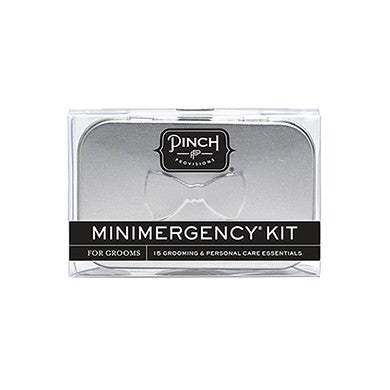 Groom's Minimergency Kit - Silver Tin - Marry Me Wedding Accessories & Gifts