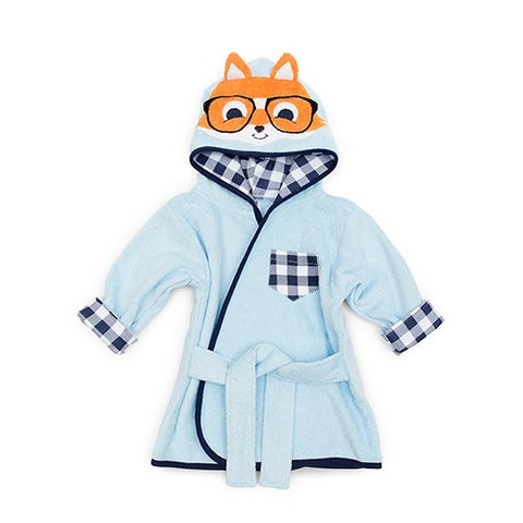 Animal Face Hooded Bathrobe - Hipster Fox - Marry Me Wedding Accessories & Gifts